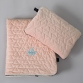 La millou VELVET COLLECTION – POŚCIEL – BLANKET & MID PILLOW - powder pink bright