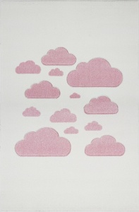 KIDS LOVE RUGS Dywan CLOUDY SKY cream/pink 160x220