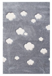 KIDS LOVE RUGS Dywan CLOUDS grey 120x180