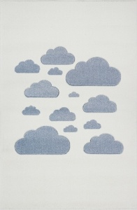 KIDS LOVE RUGS Dywan CLOUDY SKY cream/blue 160x220